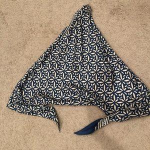 J. McLaughlin silk wrap top